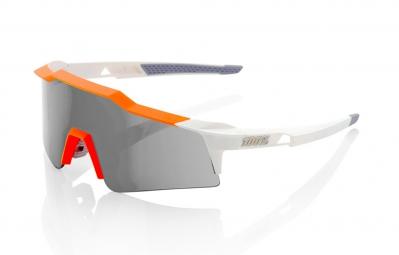 100% Lunettes SPEEDCRAFT SL Blanc Orange Ecran Gris