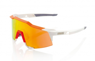 100% Lunettes SPEEDCRAFT SL Blanc Orange Ecran Iridium Orange