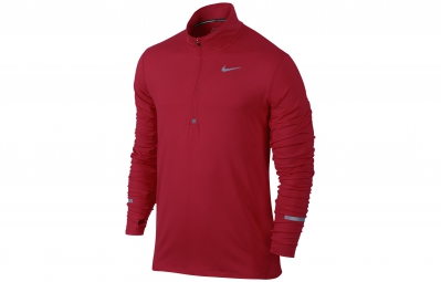 NIKE Maillot DRI-FIT ELEMENT Rouge Homme