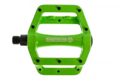 SB3 Pédales FAST Vert Aluminium