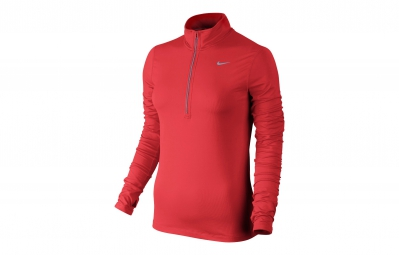 NIKE Maillot DRI-FIT ELEMENT Rouge Femme