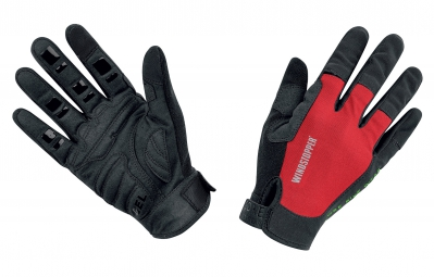 GORE BIKE WEAR Gants POWER TRAIL Windstopper Light Noir/Rouge