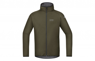 GORE BIKE WEAR Maillot à Capuche Element Windstopper Soft Shell Vert