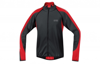 GORE BIKE WEAR Veste PHANTOM 2.0 Windstopper Soft Shell Noir/Rouge