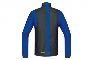 GORE RUNNING WEAR Maillot à Manches Longues Air Windstopper Noir/Bleu