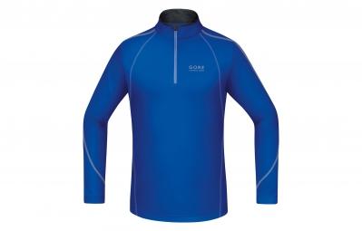 GORE RUNNING WEAR Maillot À Manches Longues Essential Zip Bleu