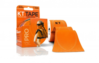 KT TAPE Bande prédécoupée PRO Orange 20 bandes