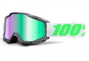 100% Masque ACCURI NEWSWORTHY Noir Ecran Iridium Vert