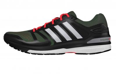 adidas Chaussures Supernova Sequence 7 Boost Vert Noir Homme
