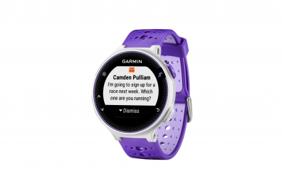 GARMIN Montre GPS Forerunner 230 Pack HRM Blanc/Violet