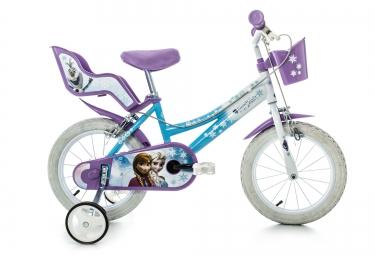 DINO Vélo Enfant 14´´ Reine des Neiges Bleu Blanc