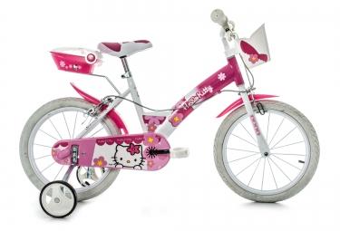 DINO Vélo Enfant 16´´ HELLO KITTY Blanc Rose