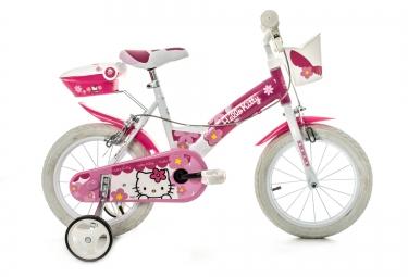 DINO Vélo Enfant 14´´ HELLO KITTY Blanc Rose