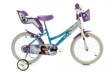 DINO Vélo Enfant 16´´ Reine des Neiges Bleu Blanc