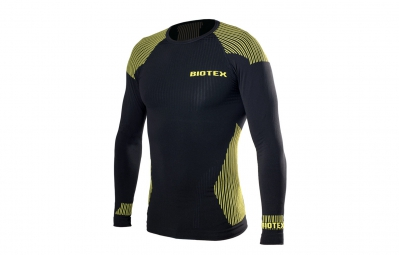Maillot manches longues Biotex Hightec Seamless Noir