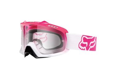 FOX Masque AIR SPC Rose Blanc Ecran Transparent