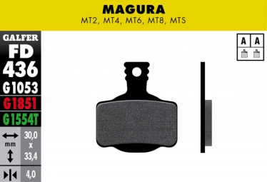 GALFER Plaquettes de Frein métalliques Compatible MAGURA MT2 / MT4 / MT6 / MT8 / MTS