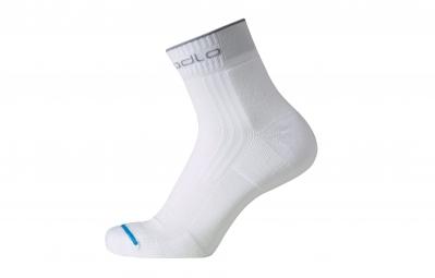 ODLO Paire de chaussettes Running Courtes Blanc