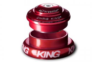 CHRIS KING Jeu de Direction INSET 7 Semi-Intégré / Externe Conique 1´´1/8-1.5´´ Rouge