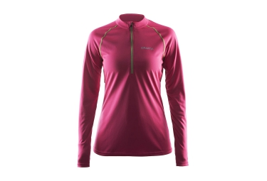 CRAFT Maillot Manches Longues PRIME Demi-Zip Rose Femme
