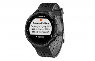 GARMIN Montre GPS Forerunner 235 (Cardio-fréquencemètre intégré) Noir/Gris
