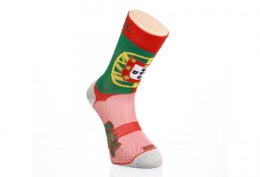 Paire de chaussette RAFA´L Carbone Selection Portugal Vert Rouge