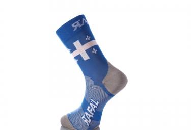 Paire de chaussette RAFA´L Carbone Selection Quebec Bleu Blanc