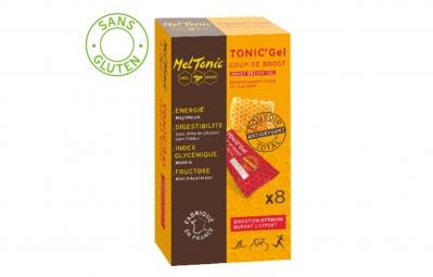 MELTONIC 8 Gels énergétiques COUP DE BOOST Miel Magnésium Pamplemousse