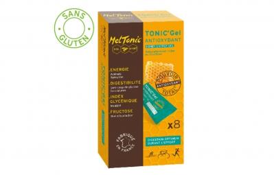 MELTONIC 8 Gels énergétiques ANTIOXYDANT Miel acerola Spiruline Citron vert