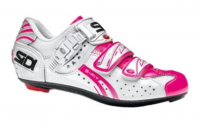 Chaussures Route femme Sidi GENIUS 5 FIT CARBONBlanc rose