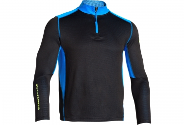 UNDER ARMOUR COLDGEAR INFRARED GRID Long Sleeves Jersey Half-Zip Black Blue