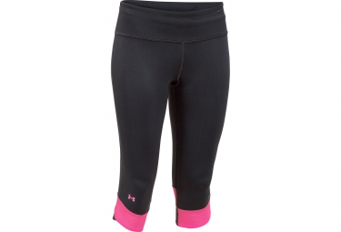 UNDER ARMOUR FLY-BY Compression Capri Black Pink Women