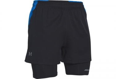 UNDER ARMOUR LAUNCH RACER 2-in-1 Short Black Blue