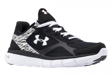 UNDER ARMOUR MICRO G VELOCITY Pair of Shoes Black White Women