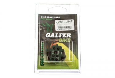 GALFER Plaquettes AVID BB7/JUICY 3 5 7/ULTIMATE/CARBON Organique PRO G1554T