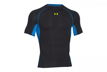 UNDER ARMOUR HEATGEAR ARMOUR Short Sleeves Compression Jersey Black Blue