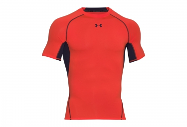 UNDER ARMOUR HEATGEAR ARMOUR Short Sleeves Compression Jersey Orange Black