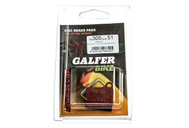 GALFER Plaquettes SHIMANO DEORE/NEXAVE Métallique ADVANCED G1851