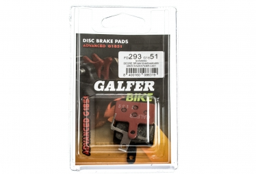 GALFER Plaquettes SHIMANO DEORE/TEKTRO Métallique ADVANCED G1851