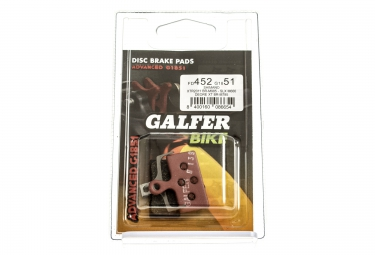 GALFER Plaquettes SHIMANO XTR 985/XT 785/SLX 666 Métallique ADVANCED G1851