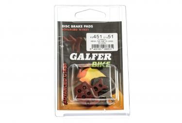 GALFER Plaquettes FORMULA MEGA/THE ONE/R0/R1/RX/RR1/T1/C1 Métallique ADVANCED G1851