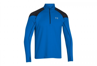 UNDER ARMOUR COLDGEAR INFRARED RUN Long Sleeves Jersey Half-Zip Blue