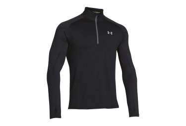 UNDER ARMOUR COLDGEAR INFRARED RUN Long Sleeves Jersey Half-Zip Black