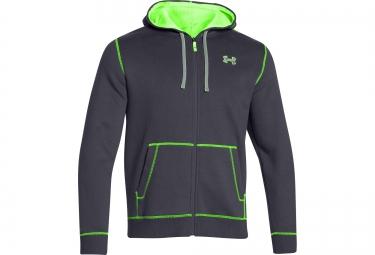 UNDER ARMOUR STORM RIVAL Hoodie Zip Grey Green