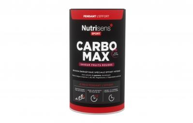 NUTRISENS Boisson énergétique CARBO MAX Pot de 750g Fruits Rouges
