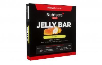 NUTRISENS Pâte de fruits JELLY BAR 25g Poire 4 quantités
