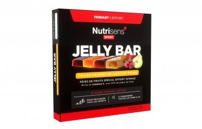 NUTRISENS Pâte de fruits JELLY BAR 4 x 25g Fraise Framboise Poire Abricot