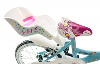 Vélo Enfant Lombardo BAFFY 14 14'' Bleu / Rose