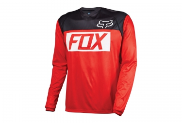 FOX Maillot Manches Longues INDICATOR Rouge Noir Blanc