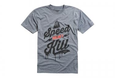 FOX T-Shirt SPEED WOBBLE SS TECH TEE Heather Gris